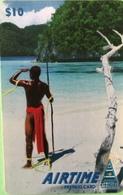 """PALAU  -  AIRTIME  -  """" Pêcheur """"  -  $10 - Palau"""