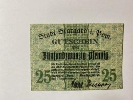 Allemagne Notgeld Stargard 25 Pfennig - [ 3] 1918-1933 : République De Weimar