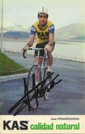 CARTE CYCLISME JOSE PESARRODONA SIGNEE TEAM KAS 1974 - Cyclisme