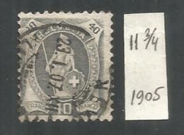 Switzerland 1905 Year , Used Stamp Mi # 77 A 11 3/4 - Gebruikt