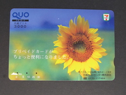 """""""JAPAN"""" GIFT CARD / PREPAID CARD - QUO SEVEN ELEVEN FLOWER - Gift Cards"""
