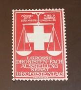Werbemarke Cinderella Poster Stamp I. Grosse Drogisten - Fach  Drogistentag München 1913 #201 Rot - Vignetten (Erinnophilie)