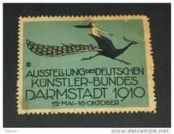 Werbemarke Cinderella Poster Stamp Künstler Bund Ausst. Darmstadt 1910 #94 - Vignetten (Erinnophilie)