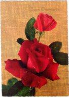 Buon Onomastico Con Rose. VG. - Fiori