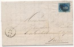 1862 BRIEF MET OCB 11A? VAN GAND NAAR LIERRE - AANKOMSTSTEMPEL LIERRE ZIE SCAN(S) VL - 1858-1862 Medaillons (9/12)
