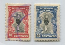 CHILE 1927 TELEGRAPH COMPLETE SET MILITARY STAMPS # 71790 111019 - Chile