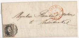 1852 BRIEF MET OCB 6? VAN AUDENAERDE NAAR NEDERBRAKEL - AANKOMSTSTEMPEL NEDERBRAKEL ZIE SCAN(S) VL - 1851-1857 Médaillons (6/8)