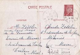 20477# ENTIER PETAIN CARTE POSTALE Obl TRELON NORD 1942 Pour 6ème ESCADRON DE LA GARDE MEKNES MAROC HOPITAL LOUIS - Marcophilie (Lettres)