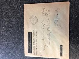 Belgium World War I WWI Letter Cheques Postaux (overprint Kaiserliches Postcheckstelle) SM Armee Belge 21/2/2019 - Guerre 14-18