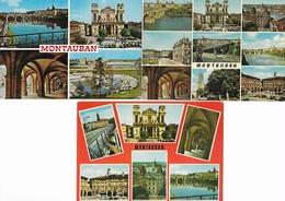 [82] Tarn Et Garonne Lot De 3 CPM De Montauban Carte Multivues+ - Montauban