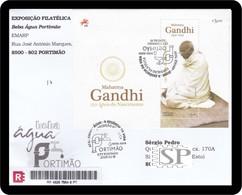 Portugal 2020 150 Mahatma Gandhi Portimão Special Postmark Cachet Temporarie Water - Mahatma Gandhi