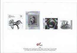 Belg. 2020 - Feuillet Noir & Blanc N° 1/5 ** -  (prévente 27/1/2020) - Zwarte/witte Blaadjes