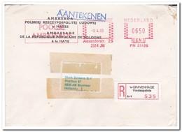 Aangetekende Brief 1986, Van Den Haag Naar Boxmeer ( Poolse Ambasade ) AMBASADA POLSKIEJ - Period 1980-... (Beatrix)