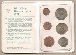 Isola Di Man - First Decimal Issue Coins - 1971 - Monete Regionali