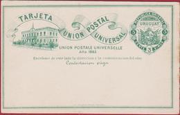 1883 Entier Postal Postwaardestuk Uruguay Tarjeta Union Postal Universal Entero Postal Ganzsache Postal Stationery Card - Enteros Postales
