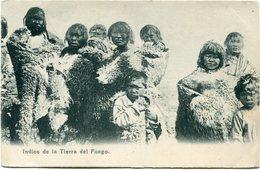 CHILI CARTE POSTALE INDIOS DE LA TIERRA DEL FUEGO - Chile