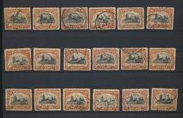 142 Du COB  Lot De 77 Timbres  Bel Oblitérations Sur COB 142 Et Autres - 1915-1920 Albert I