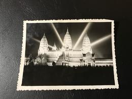 PHOTO  - PARIS Exposition Coloniale 1931 - Temple D'ANGKOR VAT La Nuit - Plaatsen