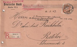 Deutsches Reich / 1927 / Dienstmarke Mi. 111 EF Auf Reco-Brief Ex Berlin Nach Ratibor (AC79) - Oficial