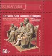 2020-2600 Russia 1v-corner 75th Anniversary Of The Yalta Conference Stalin, Roosevelt, Churchill.WW2  MNH - 1992-.... Fédération