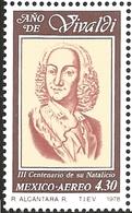 J) 1978 MEXICO, ANTONIO VIVALDI (1675-1741), ITALIAN VIOLINIST AND COMPOSER, SCOTT C589, MN - Mexico