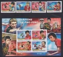 I740. Burundi - MNH - Sports - Table Tennis - 2011 - Imperf - Stamps