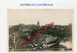HAMBLAIN LES PRES-CARTE PHOTO Allemande-GUERRE 14-18-1 WK-France-62-Militaria- - France