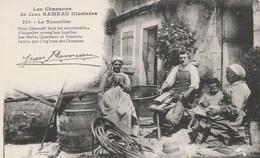 CPA - Le Tonnelier - Travail En Famille - Artisanat