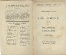 Libro Di Preghiere Fiorellini Del Santuario S.Cuore Mese Di Maggio A Maria Busto Arsizio Pag,32 190 ...  N72 - Livres, BD, Revues