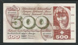 SUISSE  SWITZERLAND RARE  500 FRANCS 1970 VF - Suiza