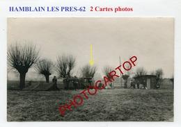 HAMBLAIN LES PRES-Parc 121-2x CARTES PHOTOS Allemandes-GUERRE 14-18-1 WK-France-62-Militaria-Feldpost- - France