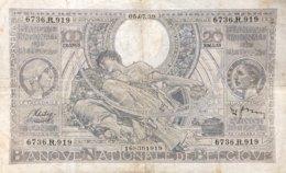 Belgium 100 Francs, P-107 (5.7.1939) - Very Fine - 100 Francs & 100 Francs-20 Belgas