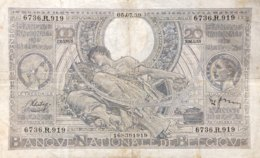 Belgium 100 Francs, P-107 (5.7.1939) - Very Fine - [ 2] 1831-...: Belg. Königreich