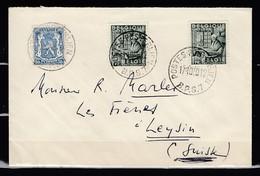 Brief Van Postes Posterijen B.P.S.7 Naar Leysin (Zwitersland) - Belgique