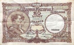 Belgium 20 Francs, P-111 (3.1.1944) - Fine Plus - Belgien