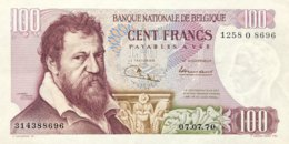 Belgium 100 Francs, P-134 (7.7.70) - EF/XF+ - Nice Date - [ 2] 1831-...: Belg. Königreich