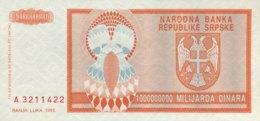 Bosnia 1.000.000.000 Dinara, P-147 (1993) - UNC - Bosnia Erzegovina