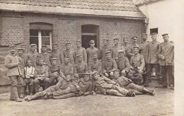 AK Foto Gruppe Deutsche Soldaten - 1. WK (47183) - Guerra 1914-18