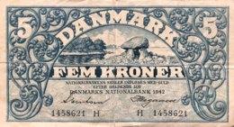 Denmark 5 Kroner, P-30g (1942) - Fine Plus - Danimarca