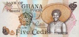 Ghana 5 Cedis, P-15b (2.1.1977) - UNC - Ghana