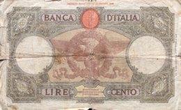 Italy 100 Lire, P-55b (19.12.1940) - Poor - [ 1] …-1946: Königreich