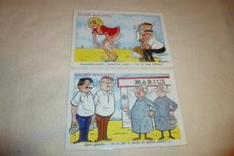 LOT DE 2 ILLUSTRATIONS HUMORISTIQUES....SACRES BOULISTES - Humour