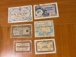 FRANCE -lot 6 Billets Chambre De Commerce  ( Port Offert ) - Chamber Of Commerce