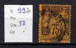 Timbre Sage N° 99 Violet Sur Orange Type (II) - 1876-1878 Sage (Type I)