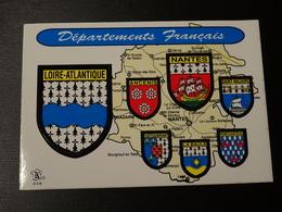 CP Blason Adhésif, écusson Loire Atlantique Autocollant Nantes, Ancenis, St Nazaire  Coat Of Arms  Sticker - Obj. 'Remember Of'
