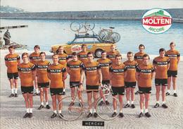 CARTE CYCLISME GROUPE TEAM MOLTENI 1974 FORMAT 17 X 24 - Cyclisme