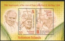 Salomon Solomon Islands  2005 Yvertn° Bloc 77 *** MNH Cote 8,00 Euro Surcharge In Memoriam Paus Pape Jean-Paul II - Salomon (Iles 1978-...)