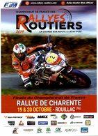 Flyer Finale Du Championnat De France Rallye De Charente 19&20 Octobre 2019 Rouillac - Sports