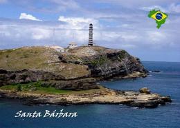 Brazil Abrolhos Santa Barbara Island Lighthouse New Postcard Brasilien Leuchtturm AK - Fari