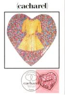 Carte Maximum YT 3747 Coeur Saint-Valentin Couturier Cacharel, 1er Jour 29 01 2005 Paris 75 TBE Mode, Couture - 2000-09